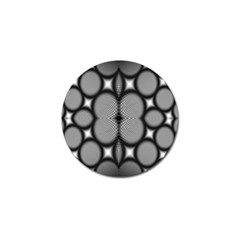 Mirror Of Black And White Fractal Texture Golf Ball Marker (4 pack)