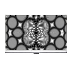 Mirror Of Black And White Fractal Texture Business Card Holders