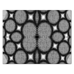 Mirror Of Black And White Fractal Texture Rectangular Jigsaw Puzzl