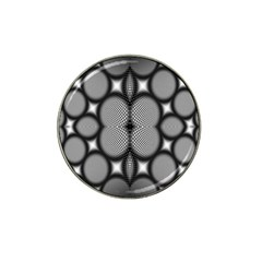 Mirror Of Black And White Fractal Texture Hat Clip Ball Marker (10 Pack)
