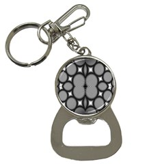 Mirror Of Black And White Fractal Texture Button Necklaces