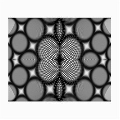 Mirror Of Black And White Fractal Texture Small Glasses Cloth (2 Side)