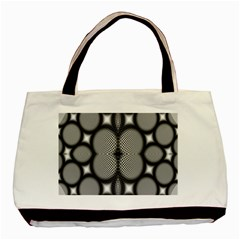 Mirror Of Black And White Fractal Texture Basic Tote Bag (Two Sides)