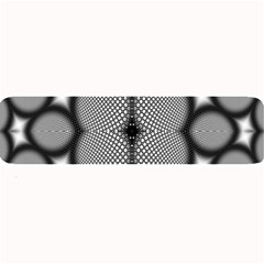 Mirror Of Black And White Fractal Texture Large Bar Mats