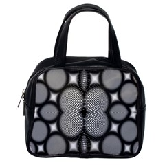 Mirror Of Black And White Fractal Texture Classic Handbags (one Side)