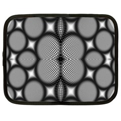 Mirror Of Black And White Fractal Texture Netbook Case (xl)