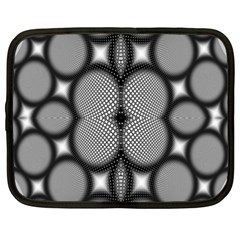 Mirror Of Black And White Fractal Texture Netbook Case (xxl)