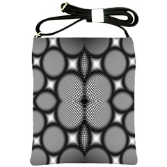 Mirror Of Black And White Fractal Texture Shoulder Sling Bags