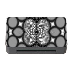 Mirror Of Black And White Fractal Texture Memory Card Reader with CF