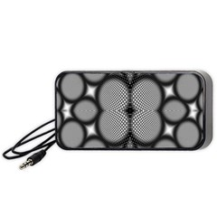 Mirror Of Black And White Fractal Texture Portable Speaker (Black)