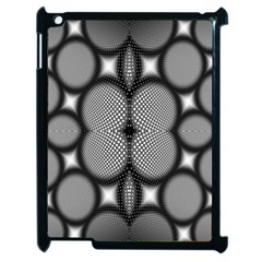 Mirror Of Black And White Fractal Texture Apple iPad 2 Case (Black)