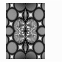 Mirror Of Black And White Fractal Texture Small Garden Flag (Two Sides)