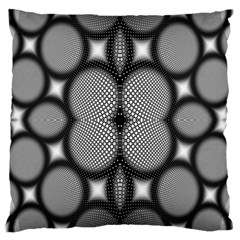 Mirror Of Black And White Fractal Texture Large Cushion Case (one Side)