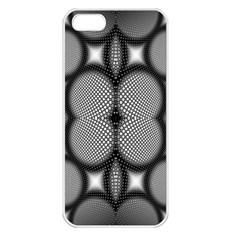 Mirror Of Black And White Fractal Texture Apple iPhone 5 Seamless Case (White)