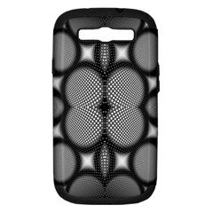 Mirror Of Black And White Fractal Texture Samsung Galaxy S III Hardshell Case (PC+Silicone)