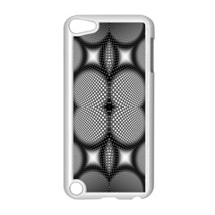Mirror Of Black And White Fractal Texture Apple iPod Touch 5 Case (White)
