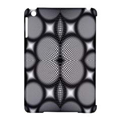 Mirror Of Black And White Fractal Texture Apple iPad Mini Hardshell Case (Compatible with Smart Cover)