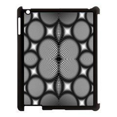 Mirror Of Black And White Fractal Texture Apple iPad 3/4 Case (Black)