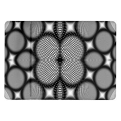 Mirror Of Black And White Fractal Texture Samsung Galaxy Tab 10.1  P7500 Flip Case