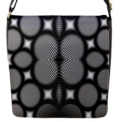 Mirror Of Black And White Fractal Texture Flap Messenger Bag (s)