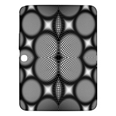 Mirror Of Black And White Fractal Texture Samsung Galaxy Tab 3 (10 1 ) P5200 Hardshell Case