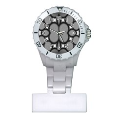 Mirror Of Black And White Fractal Texture Plastic Nurses Watch
