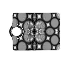 Mirror Of Black And White Fractal Texture Kindle Fire HD (2013) Flip 360 Case
