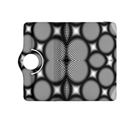 Mirror Of Black And White Fractal Texture Kindle Fire HDX 8.9  Flip 360 Case