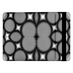 Mirror Of Black And White Fractal Texture Samsung Galaxy Tab Pro 12.2  Flip Case