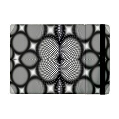 Mirror Of Black And White Fractal Texture iPad Mini 2 Flip Cases