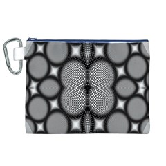 Mirror Of Black And White Fractal Texture Canvas Cosmetic Bag (XL)