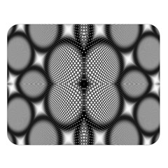 Mirror Of Black And White Fractal Texture Double Sided Flano Blanket (Large)