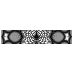 Mirror Of Black And White Fractal Texture Flano Scarf (small)