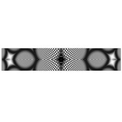 Mirror Of Black And White Fractal Texture Flano Scarf (large)