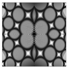 Mirror Of Black And White Fractal Texture Large Satin Scarf (Square)