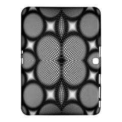 Mirror Of Black And White Fractal Texture Samsung Galaxy Tab 4 (10 1 ) Hardshell Case