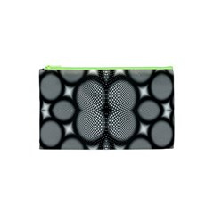 Mirror Of Black And White Fractal Texture Cosmetic Bag (XS)
