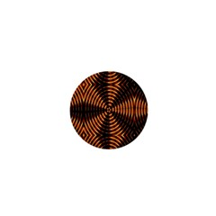 Fractal Pattern Of Fire Color 1  Mini Magnets