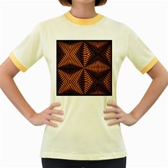 Fractal Pattern Of Fire Color Women s Fitted Ringer T Shirts