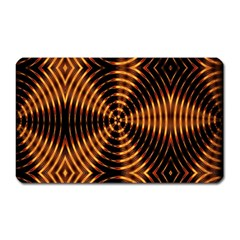Fractal Pattern Of Fire Color Magnet (rectangular)