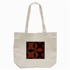 Fractal Pattern Of Fire Color Tote Bag (Cream)