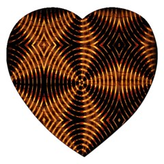 Fractal Pattern Of Fire Color Jigsaw Puzzle (Heart)