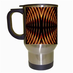 Fractal Pattern Of Fire Color Travel Mugs (White)