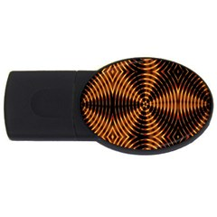 Fractal Pattern Of Fire Color Usb Flash Drive Oval (4 Gb)