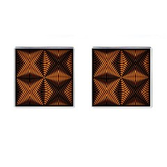 Fractal Pattern Of Fire Color Cufflinks (Square)