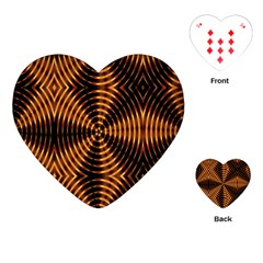 Fractal Pattern Of Fire Color Playing Cards (heart)