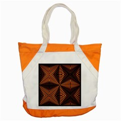 Fractal Pattern Of Fire Color Accent Tote Bag