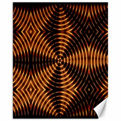Fractal Pattern Of Fire Color Canvas 16  X 20