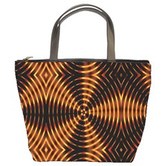 Fractal Pattern Of Fire Color Bucket Bags