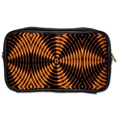 Fractal Pattern Of Fire Color Toiletries Bags 2 Side